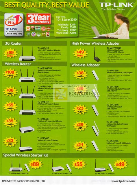 Router Wifi Usb Tp Link asia radio tp link 3g router usb adapter wireless pc show 2010 price list brochure flyer image