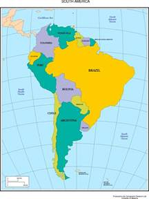 south america map countries labeled