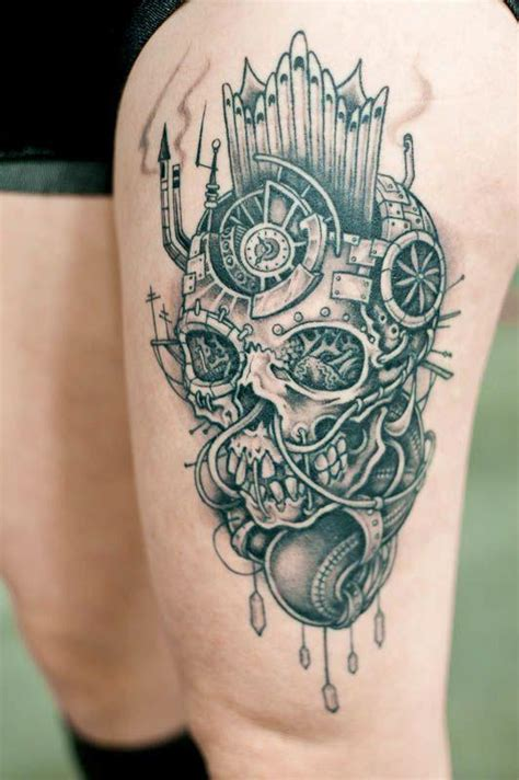 awesome skull tattoo designs awesome skull leg best design ideas