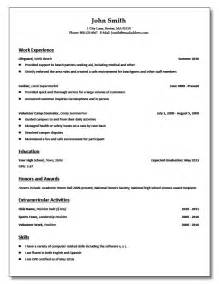 high school student resume templates for college doc 612792 high school student resume templates no work