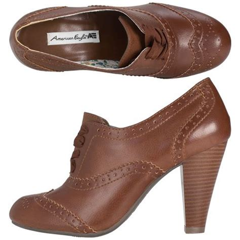 womens oxford shoes size 12 american eagle brown oxford 3 inch heels womens size 12