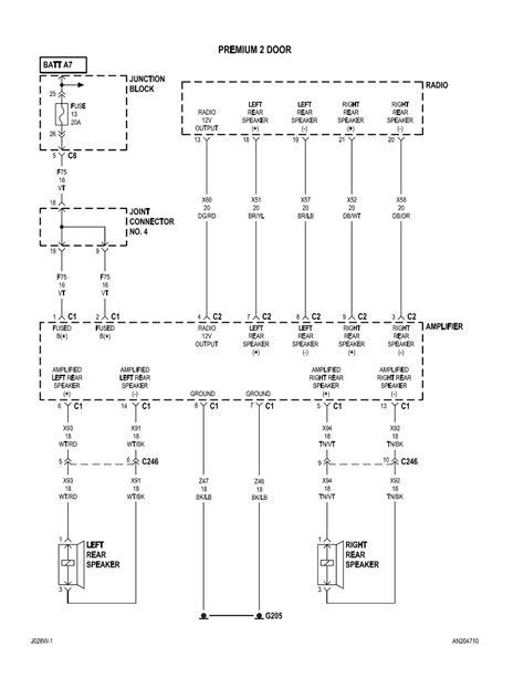 wiring diagram    dodge dakota radio