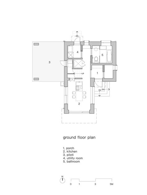 studio 54 floor plan house in sang an studio gaon archdaily