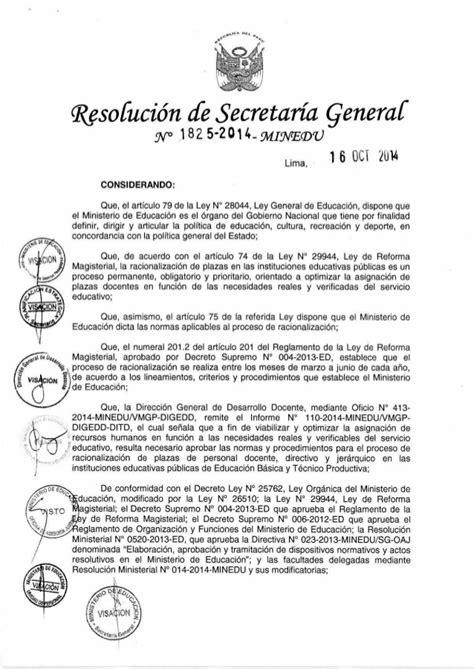 norma para proceso de encargatura de plazas de director rsg n 176 1825 2014 minedu aprobar la norma t 233 cnica