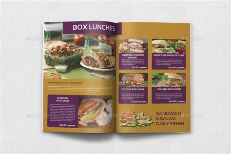 catering brochure templates catering brochure template 20 pages by owpictures