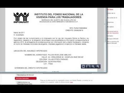 constancia de impuestos del infonavit como imprimir la constancia de interes del infonavit mp4