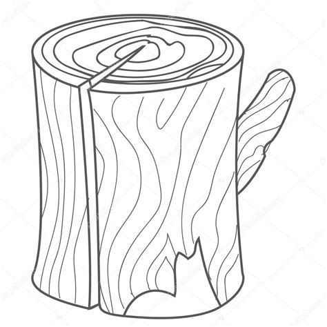 Stump Outline by Wooden Stump Wood Log In Style Outline Drawing Stock Vector 169 Filkusto 110875902