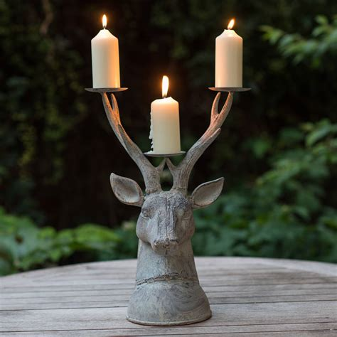 Garden Candle Sticks Grand Stag Candle Holder By The Flower Studio