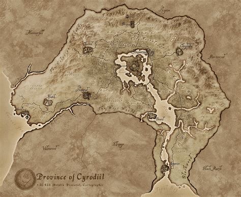 oblivion map in cyrodiil map official the imperial library