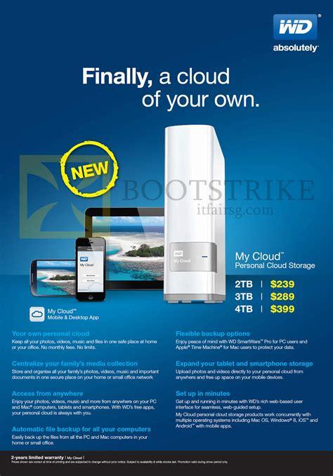 Wd Extmy Cloud 2tb wd western digital external storage my cloud 2tb 3tb 4tb it show 2014 price list brochure flyer