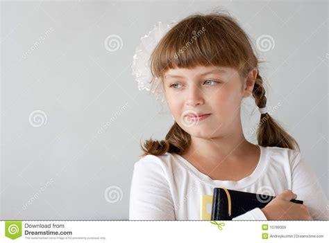 preteen school girl photos cute preteen schoolgirl portrait royalty free stock images