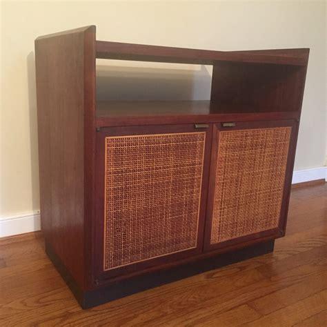 mid century storage cabinet mid century modern walnut turntable record storage
