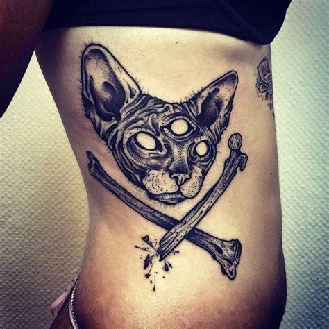 tattoo sphynx cat 30 oddly charming sphynx cat tattoos tattoodo