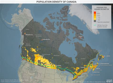 canadian map by population population density of canada geopolitical futures