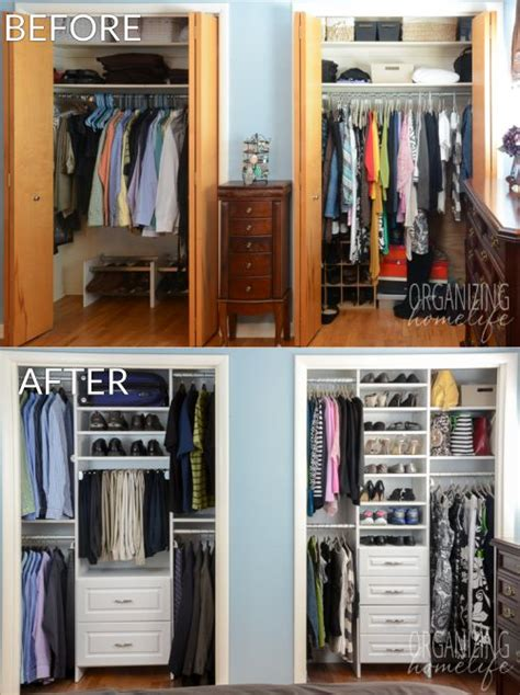 how to organize a closet with sliding doors master bedroom closet makeover before and after organizing closets closet