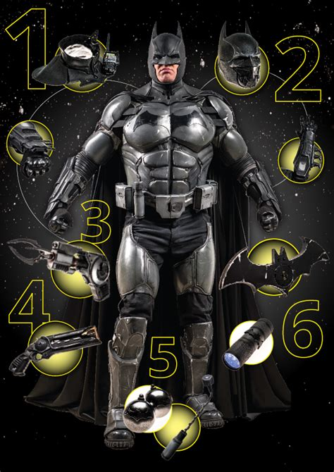 video batman cosplay suit with 23 functioning gadgets