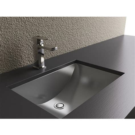 Stainless Steel Bathroom Sinks by Bathroom Sinks Rectangular Shape With Curvilinear Basin