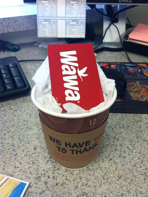 Wawa Gift Cards - my crafty idea for a wawa gift card instead of just putting it in an envelope gift
