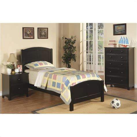 poundex 3 size bedroom set in rich black