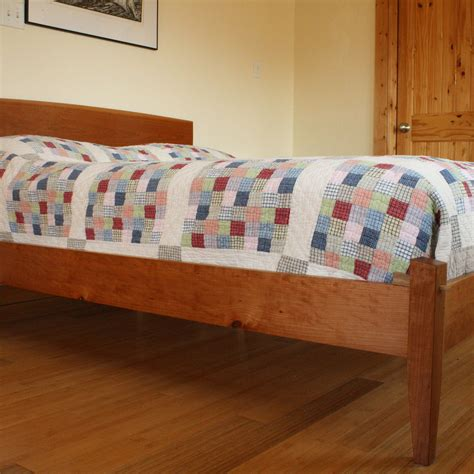 Handmade Platform Beds - handmade modern platform bed by warnock woodwork