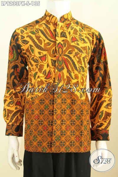 Kemeja Etnik Katun Lengan Panjang hem batik halus lengan panjang kemeja batik jawa etnik bahan adem proses printing motif mewah