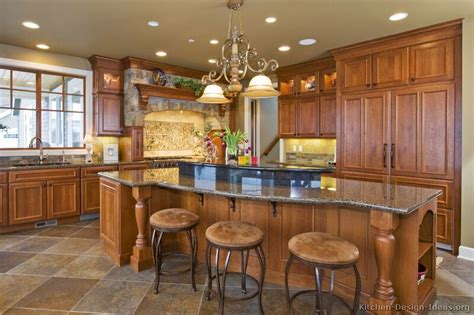 Kitchen Island Decor Ideas Pictures Of Kitchens Traditional Medium Wood Cabinets Golden Brown Page 3