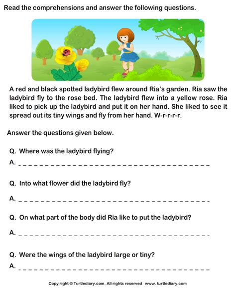 Garden Of Questions Comprehension Worksheets 2nd Grade Abitlikethis