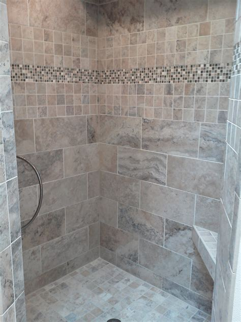 bathroom tile accent ideas bathroom tiled shower wall panel with
