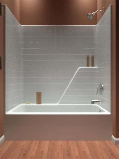 tub and shower one