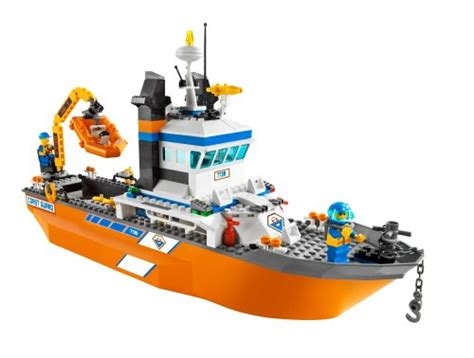 lego boat orange lego 4898 1 coast guard boat