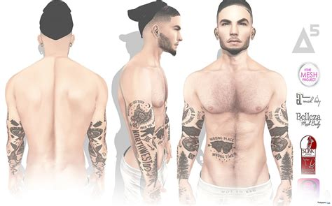 tattoo body mesh a5 body tattoo with mesh body appliers group gift by