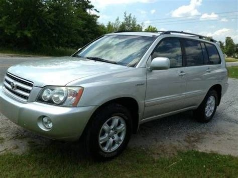 2003 Toyota Highlander Mpg Sell Used 2003 Toyota Highlander Limited Sport Utility 4