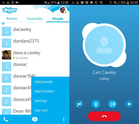 how to use skype on android for beginners