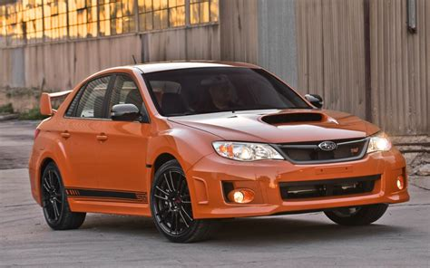 orange subaru impreza 2013 subaru impreza wrx special edition displayed at sema