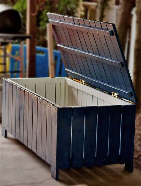 wood patio storage bench free plans 7 outdoor storage benches to build for your patio
