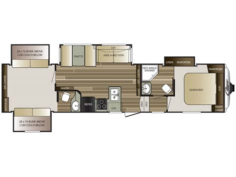cougar trailer floor plans 2015 cougar 339bhs floor plan 5th wheel keystone rv