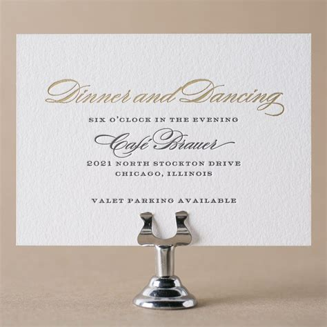 Wedding Reception Cards by Reception Cards By Figura
