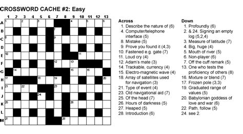 easy crossword puzzles boatload crossword easy 2 heavenly geocache description 7 flingmile