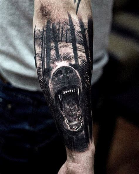 bear sleeve tattoo designs top 100 best forearm tattoos for unique designs