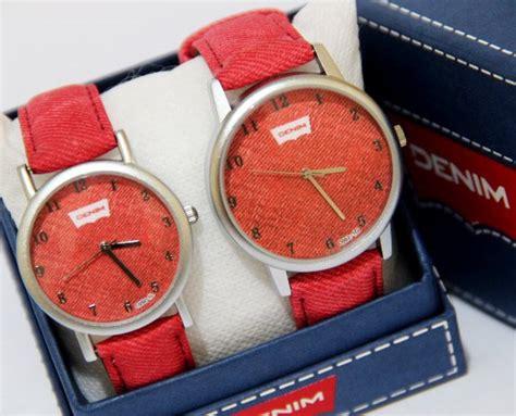 Ripcurl Crono Tali Kulit Coklat Angka Merah Jam Tangan Pria Batal29 jam tangan pria wanita denim ada 4 pilihan warna