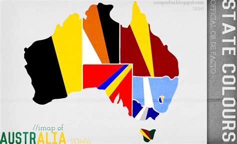 official or de facto australian state colours oc os