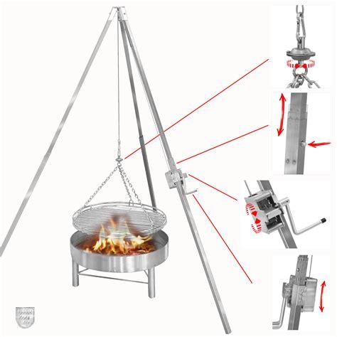 dreibein grill mit feuerschale dreibein schwenkgrill 50 cm grillrost edelstahlgrill de