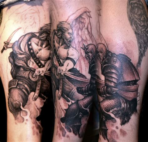 fighting tattoo designs tattoos of demons and fighting cool tattoos