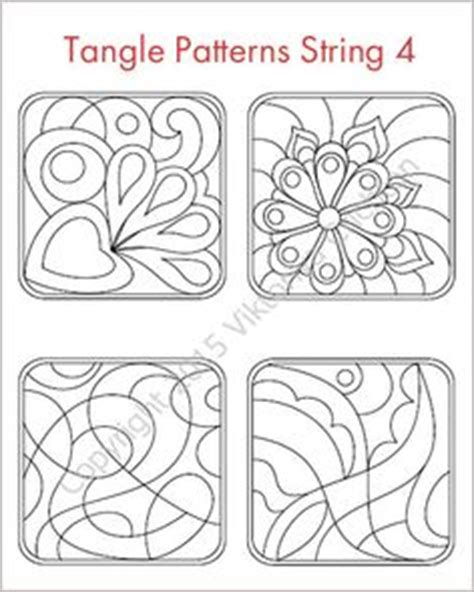 strings for drawing zentangles string art template