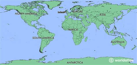 Ireland On World Map by Where Is Ireland Where Is Ireland Located In The World