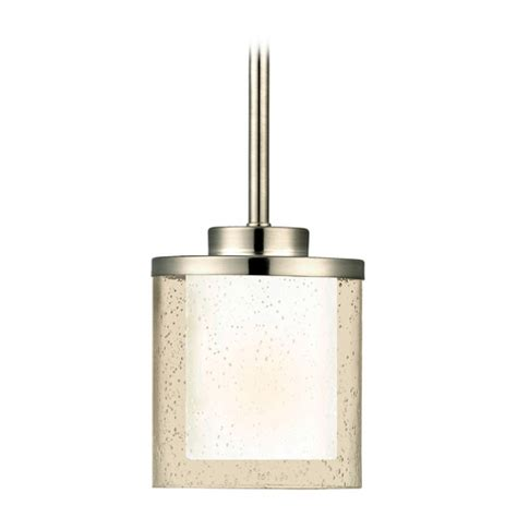 Modern Mini Pendant Lighting Modern Mini Pendant Light With Clear Seedy And White Glass