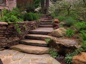 rustic garden steps in ny rustic landscape new york