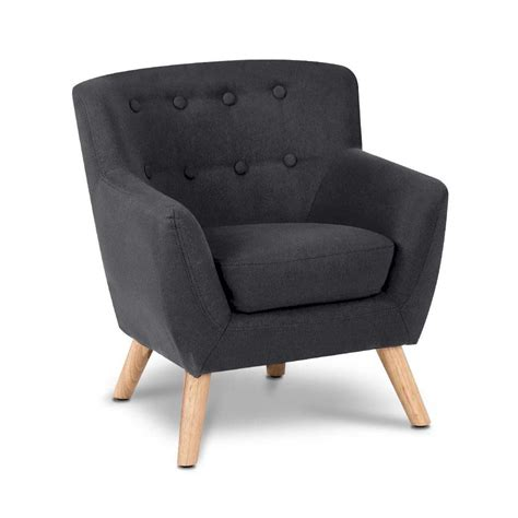 kid armchair kids fabric armchair black homeware collective