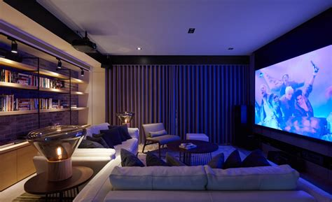 Mission Style Homes by Modern Theatre Room Interior Design Ideas