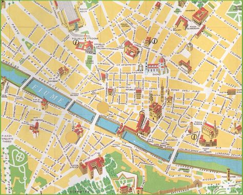 florence pocket map and popular 232 list map of florence italy